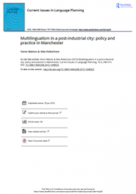 Front cover of: Multilingualism in a post-industrial city: policy and practice in Manchester