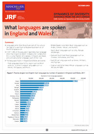 Front cover of: Census briefing: What languages are spoken in England and Wales?