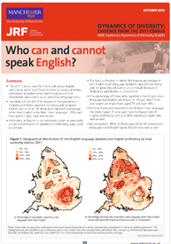 Front cover of: Census briefing: Who can and cannot speak English?