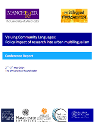 Front cover of: Valuing Community Languages – Conference report