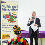 Greater Manchester Interim Mayor Tony Lloyd awards certificates to MLM English support scheme participants
